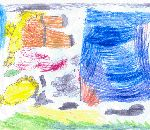 fattoria con animali..disegni bambini:Giulia Ottolenghi,Oggiona S.Stefano,4 anni.disegni per bambini da colorare,disegni per bambini di animali della fattoria,fattorie didattiche,scuole in fattoria,didattica in fattoria,compleanno in fattoria