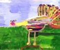 disegno animali della fattoria didattica..un mondo di colori senza limiti,disegno dei ragazzi del laboratorio di pittura per artisti diversamente abili di parabiago,visita alla fattoria didattica e all'agriturismo