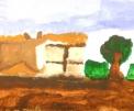 agriturismo con animali..disegno dei ragazzi del laboratorio di pittura per artisti diversamente abili di parabiago,visita alla fattoria didattica e all'agriturismo