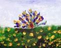 agriturismo con camere b&b..disegno dei ragazzi del laboratorio di pittura per artisti diversamente abili di parabiago,visita alla fattoria didattica e all'agriturismo