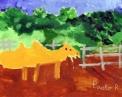 agriturismo per compleanno in fattoria..disegno dei ragazzi del laboratorio di pittura per artisti diversamente abili di parabiago,visita alla fattoria didattica e all'agriturismo