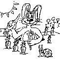 disegno coniglio da colorare..disegno coniglietto da colorare..disegno lepre da colorare..leprotto da colorare..ghiro da colorare..