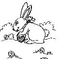 disegno coniglietto da colorare..disegno coniglio con uova di pasqua da colorare..coniglia da colorare..lepre da colorare..leprotto da colorare