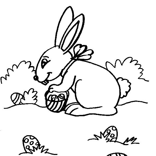 Disegno Coniglietto Da Colorare Disegno Coniglio Con Uova Di Pasqua