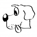 disegno cagnolino da coloraredisegno cane da co