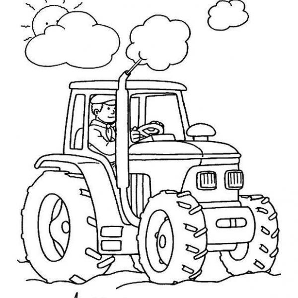 Disegno Trattore Da Colorare.Disegno Trattore Da Colorare Disegno Attrezzi Agricoli Colorare