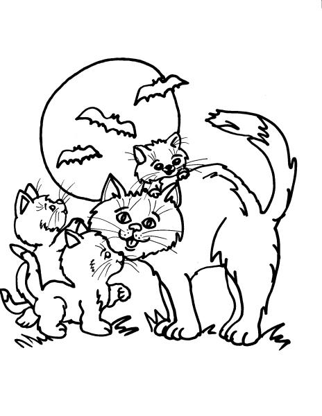Disegno gattino da colorare per bambini disegno gatto da for Immagini di gatti da colorare