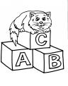 disegno gattini da colorare per bambini gratis..disegno micetti da colorare..gatto selvatico da colorare..gatto sul tetto da colorare