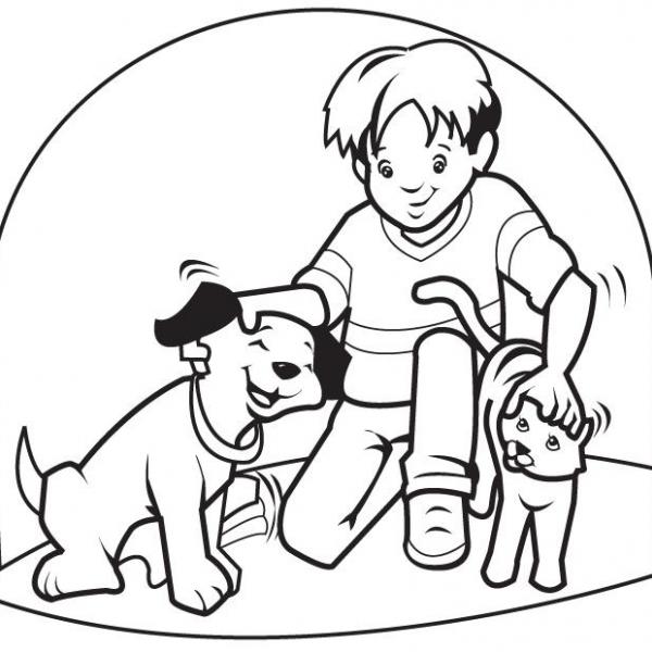 Disegno Cagnolino Da Colorare Per Bambini..disegno Cane Da