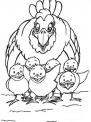 disegno gallina da colorare..disegno gallo nel pollaio da colorare..disegno gallina con uova da colorare..pulcino da colorare