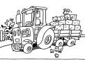 disegno trattore da colorare in fattoria..disegno trattore che lavora nei campi da colorare..disegno mietitrebbia da colorare..trincia da colorare..aratro da colorare