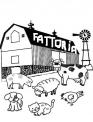 disegno fattoria degli animali da colorare..disegno animali in fattoria didattica da colorare..fattoria  per bambini da colorare con animali