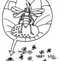 disegno api nell'alveare da colorare..disegno alveare con ape in fattoria da colorare..disegno calabrone da colorare..bombo da colorare..vespa da colorare