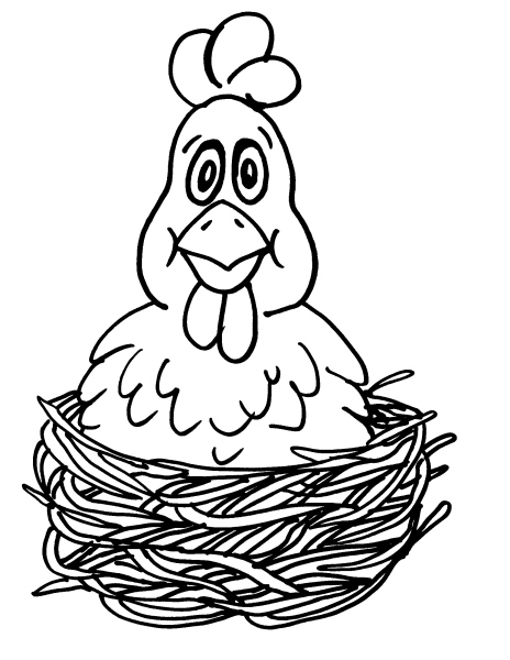 Disegno gallina da colorare disegno pulcino da colorare for Disegno della fattoria americana