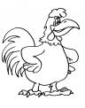 disegno gallo in fattoria didattica per bambini da colorare..disegno fagiano da colorare..disegno pollo da colorare