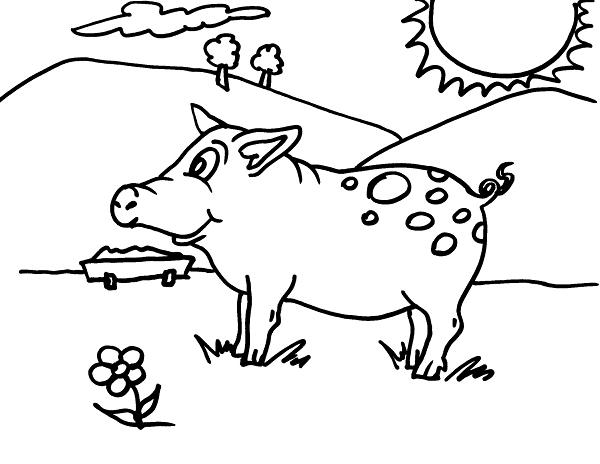 Disegno animali della fattoria da colorare disegno for Disegno della fattoria americana