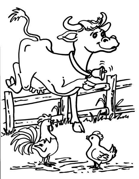 Disegno mucca da latte con vitello da colorare disegno for Disegno della fattoria americana