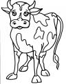 disegno mucca frisona da colorare..disegno mucca in alpeggio in montagna da colorare