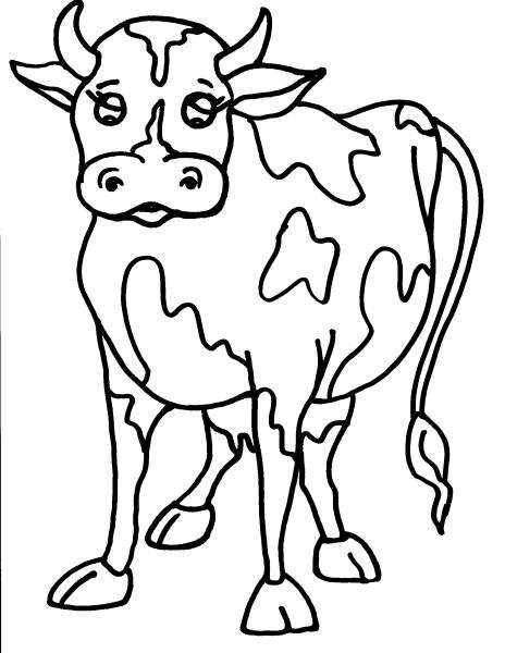 Disegno mucca frisona da colorare disegno mucca in - Immagini da colorare delle montagne ...
