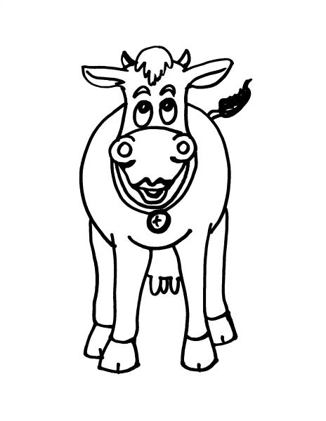 Disegno mucca da colorare disegno vitello da colorare for Disegno della fattoria americana