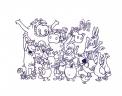 disegno animali della fattoria da colorare per bambini..disegno fattoria con animali da colorare..disegno di tutti gli animali della fattoria da colorare