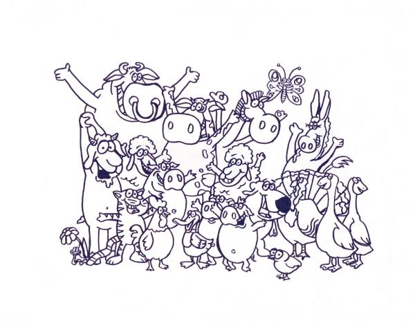 Disegni da colorare per bambini animali fattoria l 39 idea for Disegno della fattoria americana