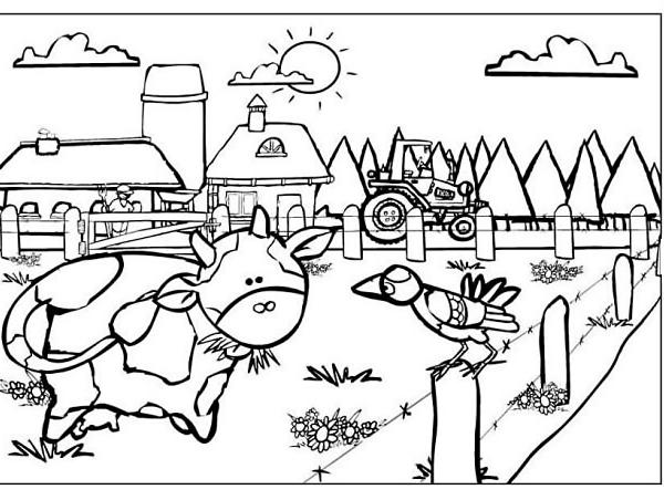 Disegno fattoria degli animali da colorare disegno tutti for Piani di fattoria con foto
