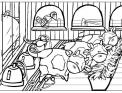 disegno mungitura delle mucche da colorare..disegno mucche da mungere da colorare..disegno stalla sala di mungitura per vacche da colorare