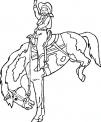 disegno cavallo da rodeo da colorare..disegno cow boy con cavallo da colorare..disegno cavallo americano da colorare