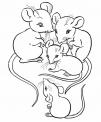disegno piccoli topi da coloraredisegno toponi d