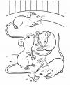 disegno topi che mangiano formaggio da colorare..disegno topini in fattoria da colorare..disegno ratti delle fogne da colorare