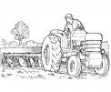 disegno trattore da colorare..disegno trattrice da colorare..disegno trattore con aratro da colorare..seminatrice da colorare