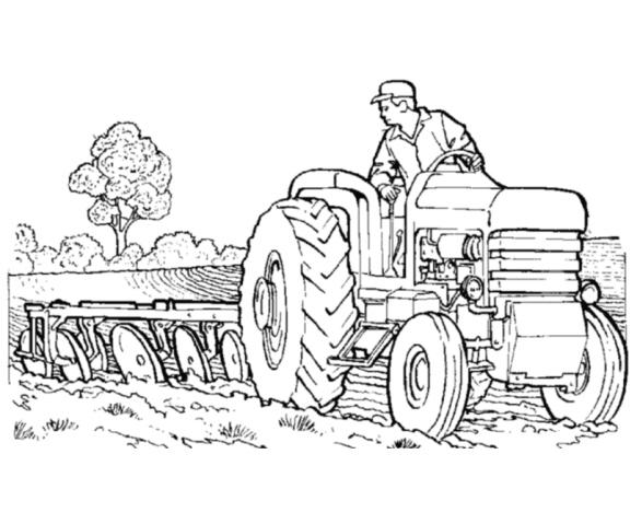 Раскраски для детей про трактора