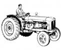 disegno contadino sul trattore da colorare..disegno trattore aratro erpice da colorare..disegno trattore che lavora in campagna da colorare