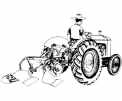 disegno trattore nel campo da colorare..disegno trattore in fattoria didattica da colorare..disegno mietitrebbia da colorare