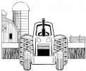 disegno trattore della fattoria da colorare..disegno agricoltore sul trattore in fattoria da colorare..disegno trattore per bambini da colorare