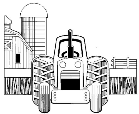 Disegno trattore della fattoria da colorare disegno for Fattoria immagini da colorare