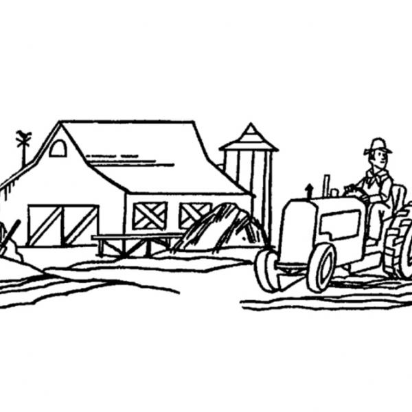 Disegno attrezzi agricoli da colorare disegno trattore for Disegno della fattoria americana