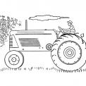 disegno trattore mentre ara la terra da colorare..disegno trattore aratro seminatrice erpicatrice  rullo da colorare