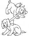 disegno cagnetti che giocano da colorare..disegno piccoli cani da colorare..cane che corre da colorare