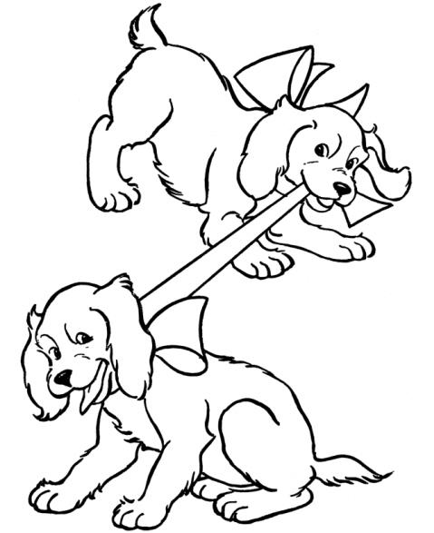 disegni da colorare cani piccoli