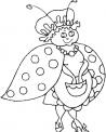 disegno coccinella da colorare..disegno coccinella mentre vola sui fiori da colorare..disegno insetto coccinella da colorare