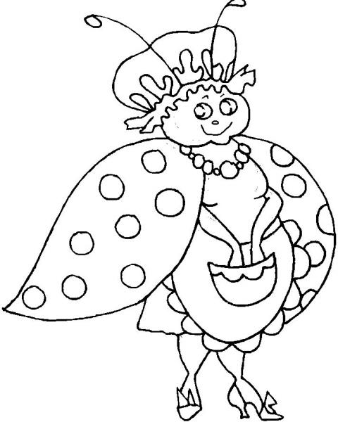 Disegno Coccinella Da Colorare Disegno Coccinella Fattoria