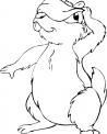 disegno scoiattolino che gioca da colorare..disegno scoiattolo sulla pianta della fattoria da colorare per bambini