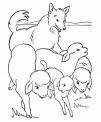 disegno pecore con cane da pastore da colorare..disegno gregge di pecore che corre da colorare..ariete da colorare