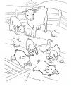 disegno animali della fattoria che giocano da colorare..disegno tutti animali fattoria colorare..fattoria didattica stalla pollaio porcile da colorare