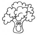 disegno broccoli da colorare..cavolo da colorare..verza da colorare..ortomangiando in fattoria..ortaggio da colorare per bambini in fattoria didattica