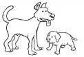 disegno cagnolino da colorare..cagnettino di maremmano da colorare..cane bastardino o meticcio da colorare..san bernardo e terranova da colorare per bambini