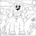 cagnolino con osso da colorare..cane con guinzaglio da colorare..cane della fattoria disegno da colorare per bambini..dalmata da colorare