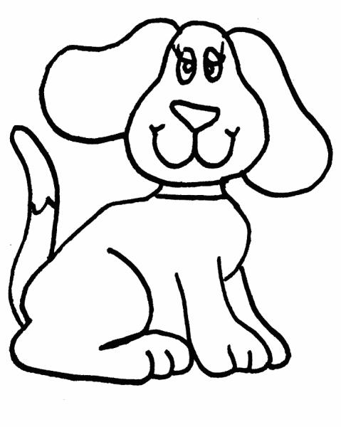 Disegno Cane Da Coloraredisegno Cagnolino Da Colorare